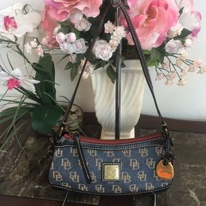 Dooney & Bourke Small Denim & Leather Shoulder Bag
